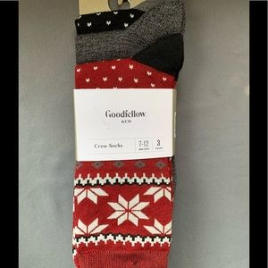 Goodfellow & Co Size 7-12 Crew Socks 3 Pairs